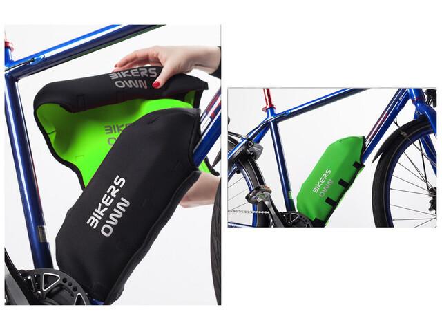 BIKERSOWN Rahmen-Akkuschutz für Bosch Powerpack 300/400 schwarz/grün